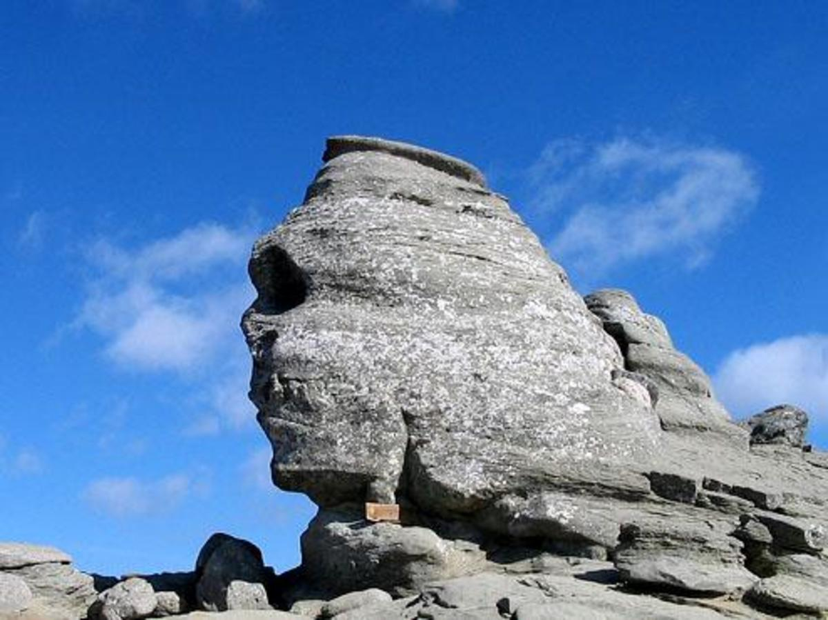 Romanian Great Sphinx located in the Bucegi Mountains