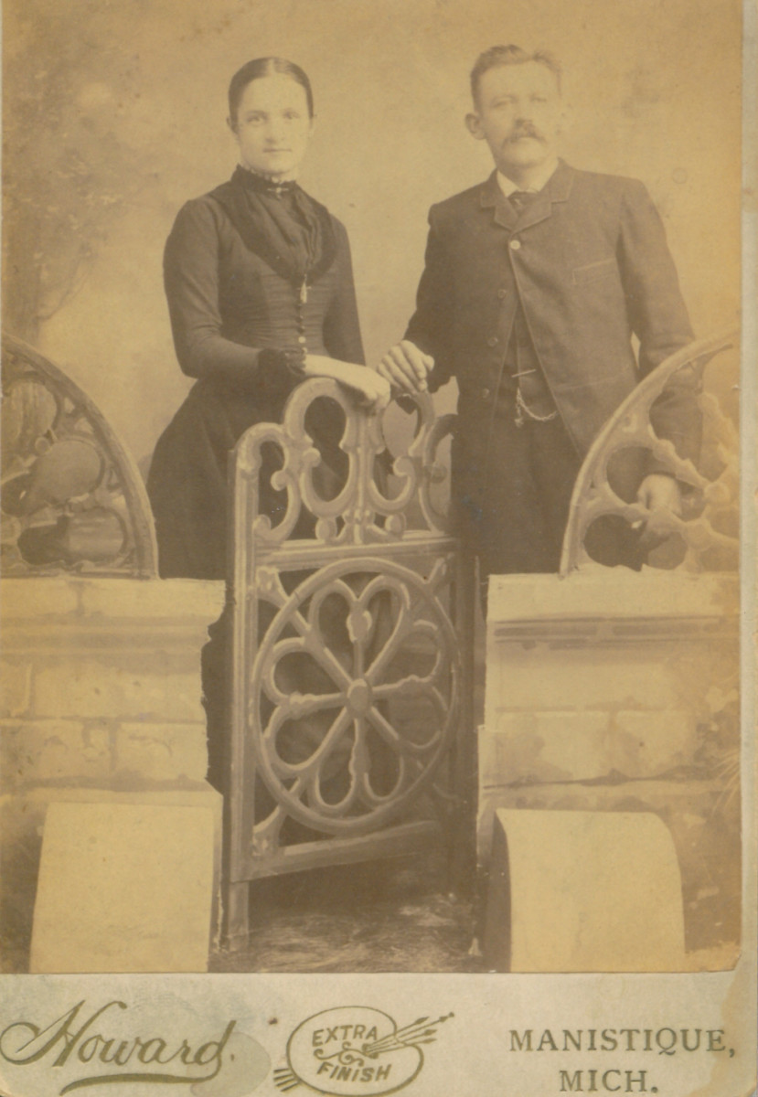 My great-grandparents, Henry and Anna Schmidt.  Picture taken around 1890.
