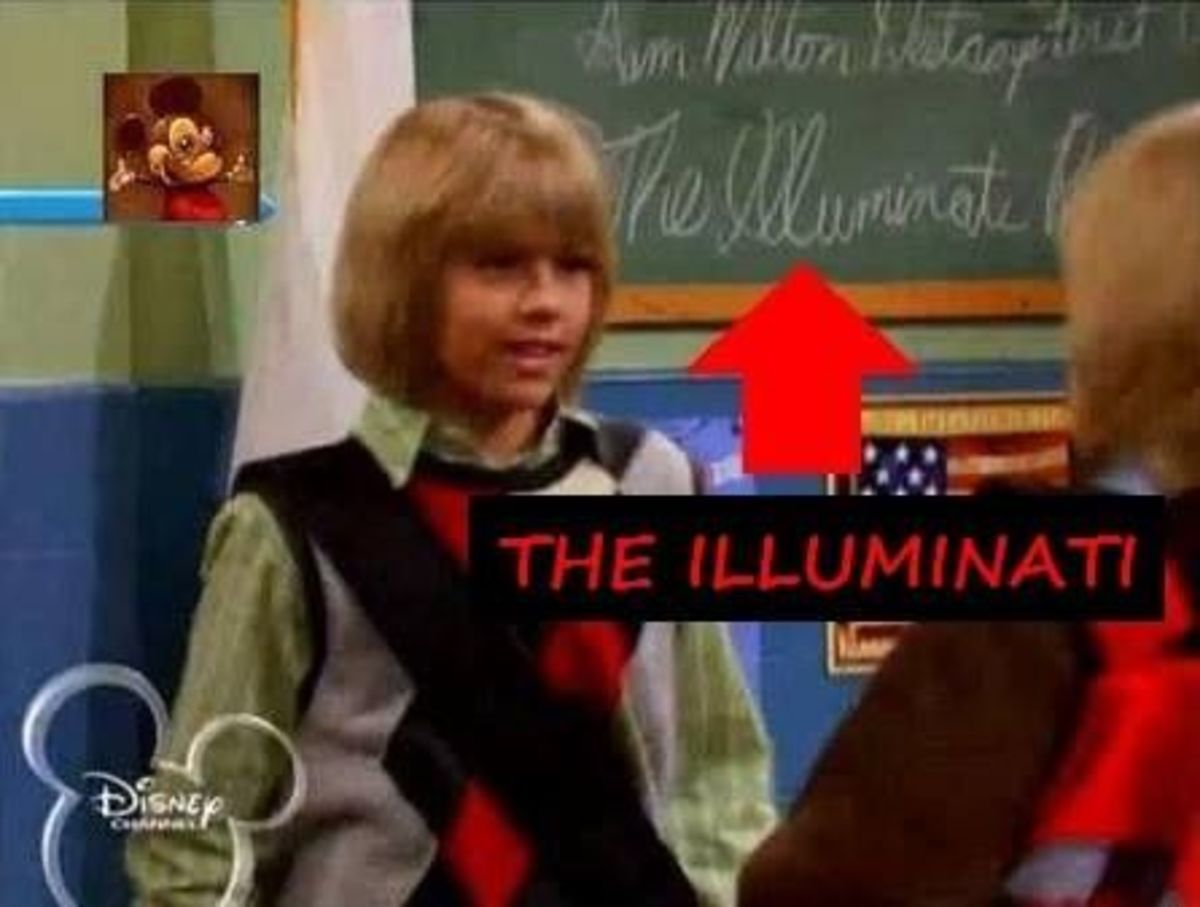 Illuminati Spelled on the Chalk Board