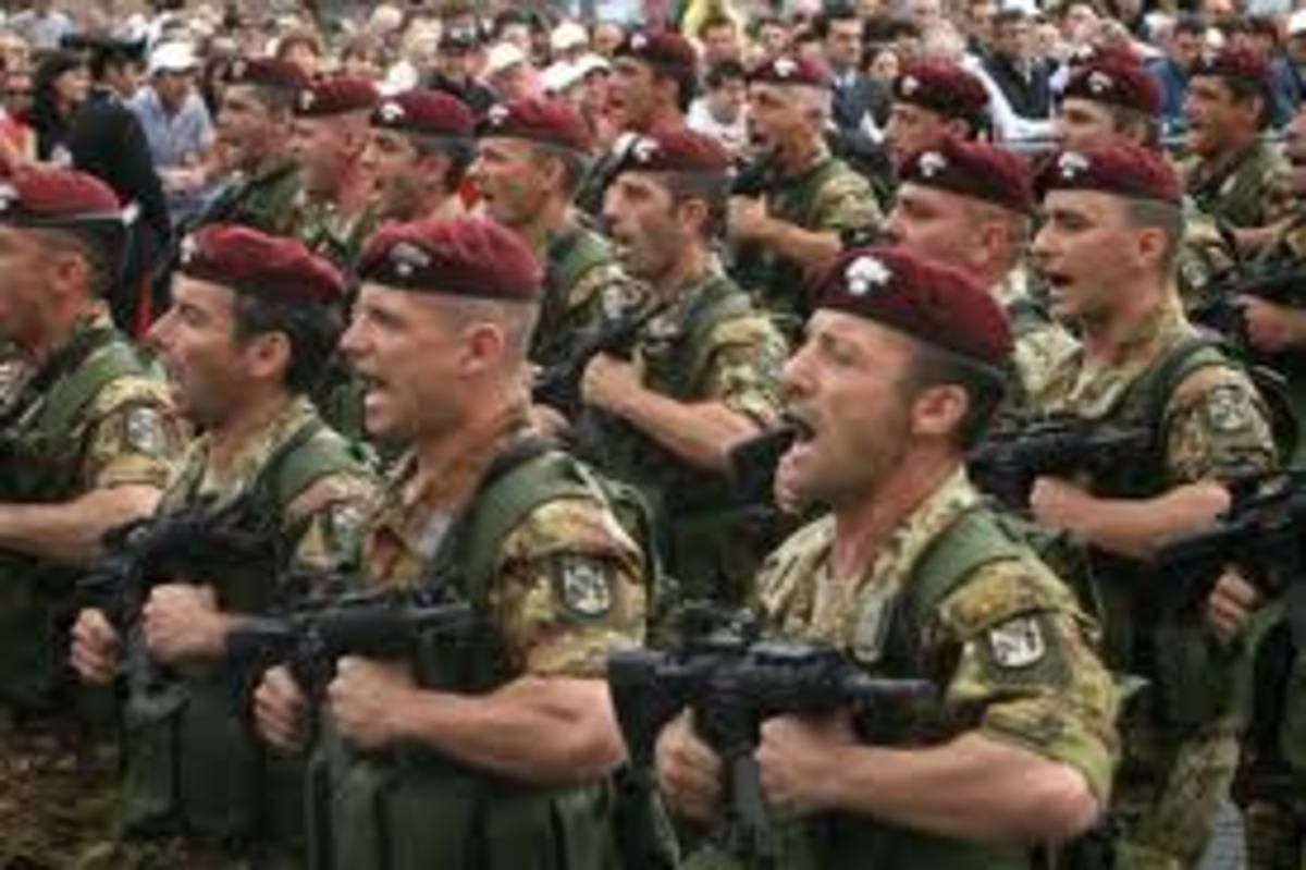 In Italy all fit young man in their twenties are required to serve in the army for about a year, and so was I in my early twenties. Most people do not like to serve in the army, because there is no real pay, but it is a different way of life to see.