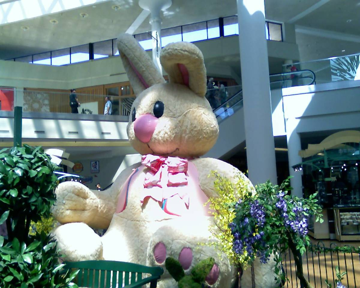 Easter Bunny in Tucson Mall, Tucson, AZ