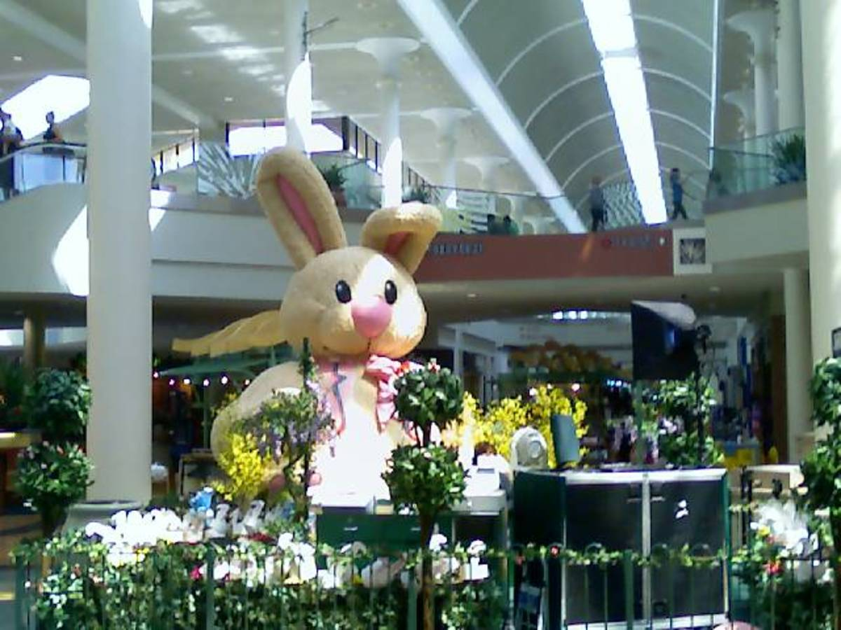 Easter Bunny at mall in Tucson, AZ