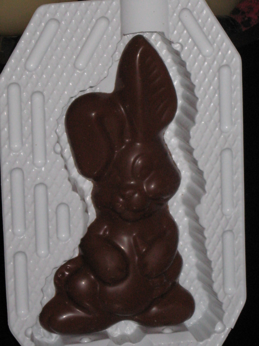 A Chocolate Easter Rabbit in the package