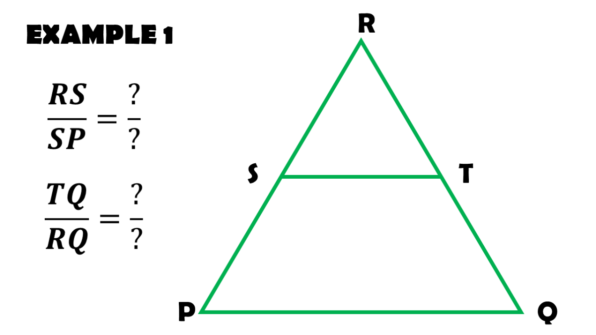 Triangle Proportionality Theorem Example 1: Completing the Proportions