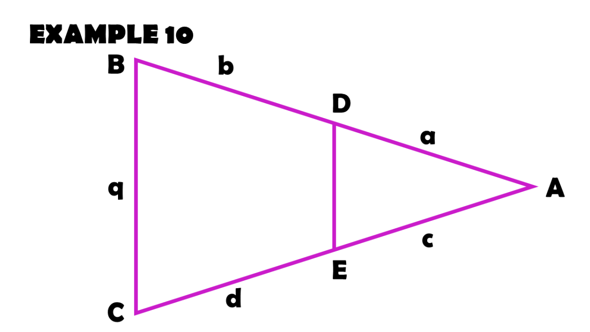 Finding the Missing Values Using the Triangle Proportionality Theorem