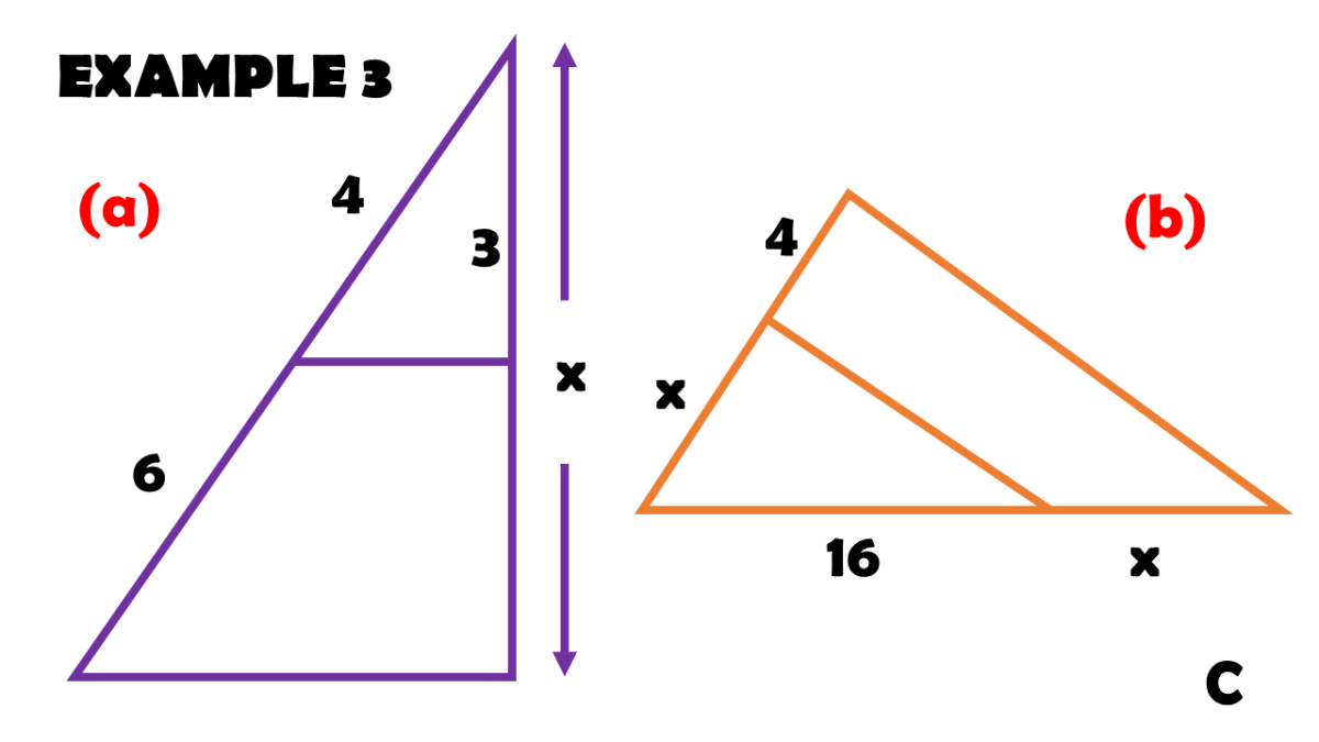 """Finding the Variable """"X"""" Using Triangle Proportionality Theorem"""