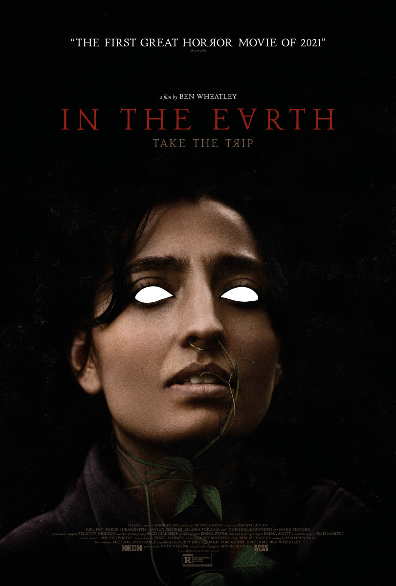 """Poster art for """"In the Earth"""" featuring Ellora Torchia."""