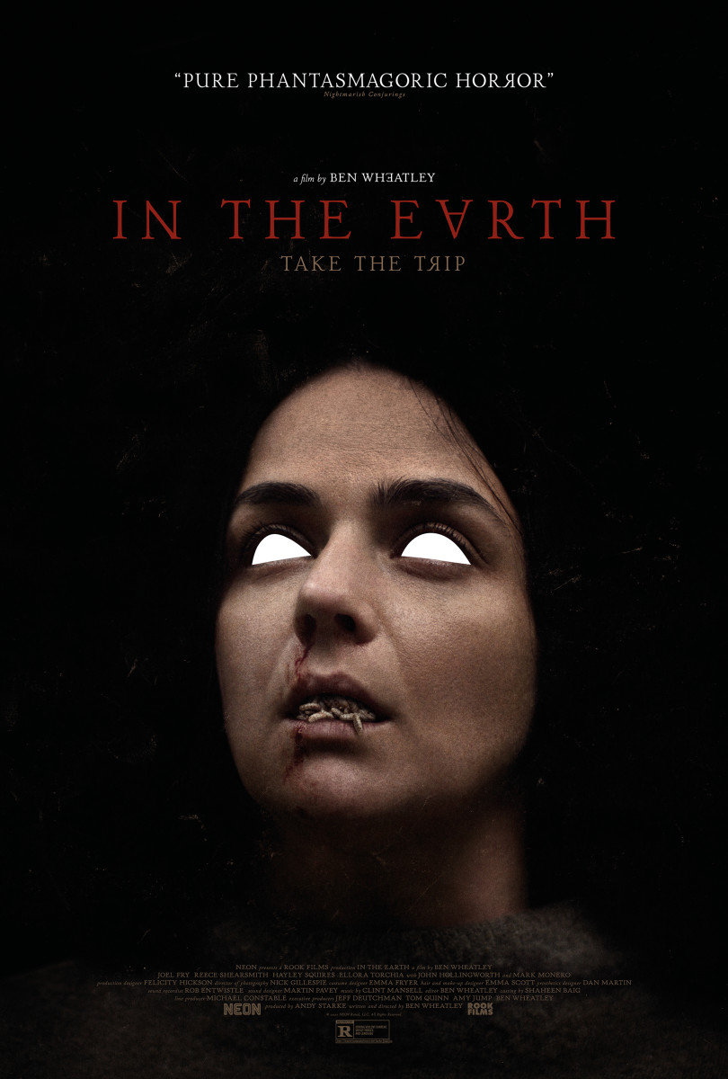"""Poster art for """"In the Earth"""" featuring Hayley Squires."""