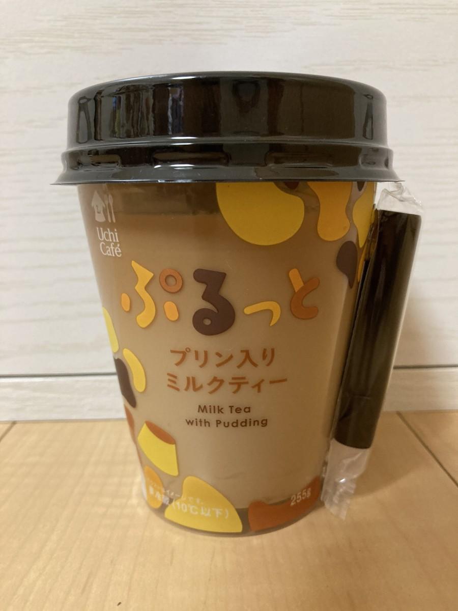 Pudding in milk tea drink