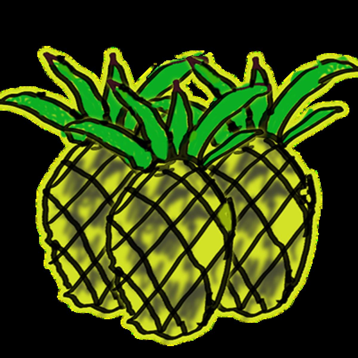 mod pineapple art