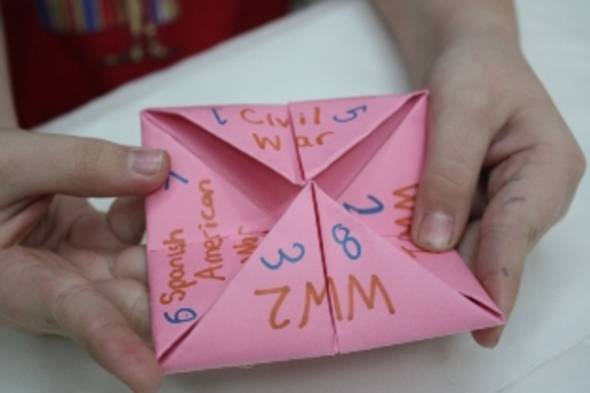 Cootie Catcher With American Wars