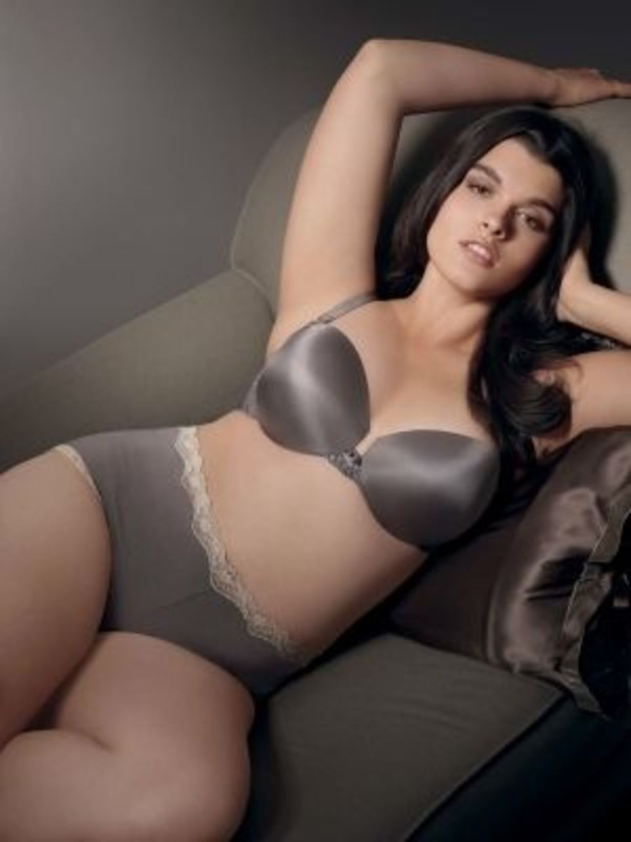 A few years ago Crystal Renn helped Lane Bryant promote their new Cacique Push Up Demi Bra. It was a great fitting bra for the plus size form.
