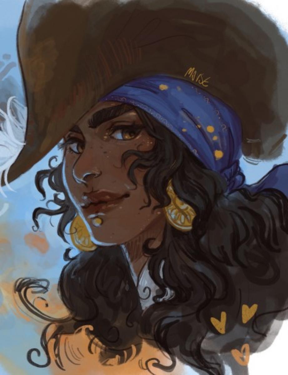 Fan art of Isabela as an admiral.