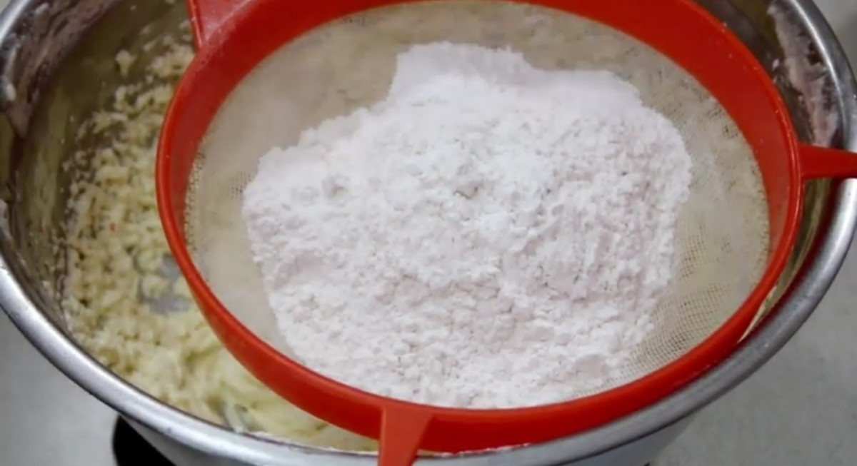 Add flour and mix it