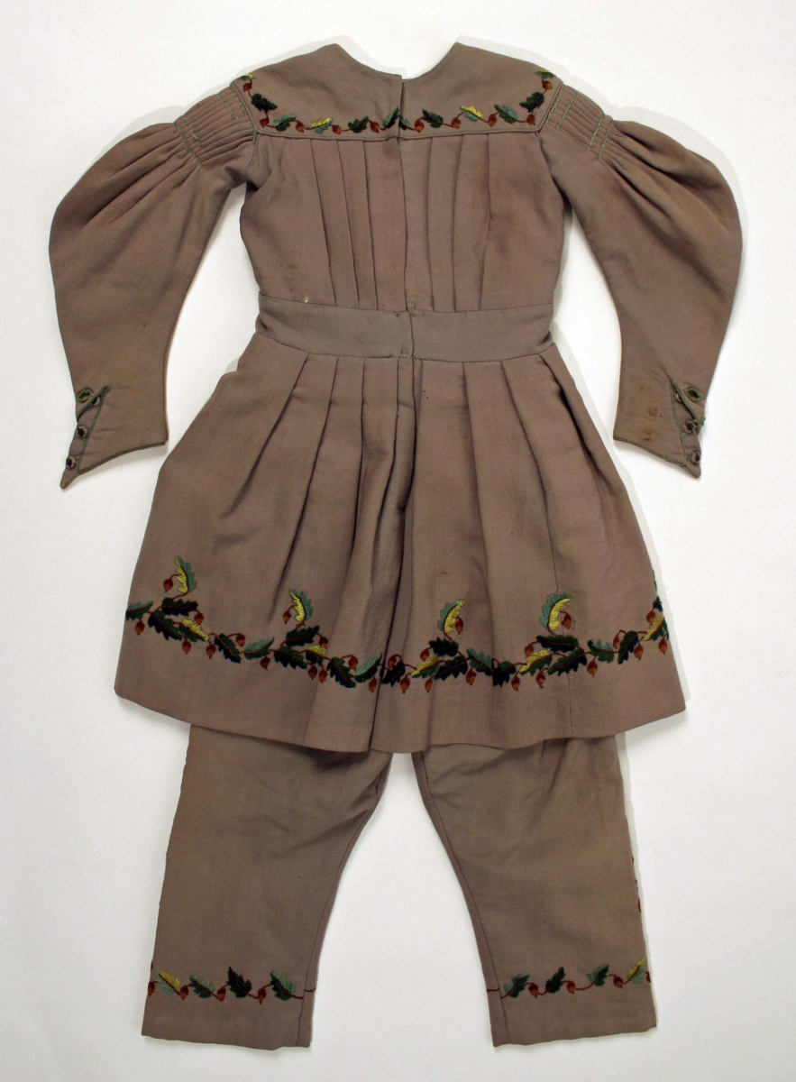 Tunic suit circa 1838