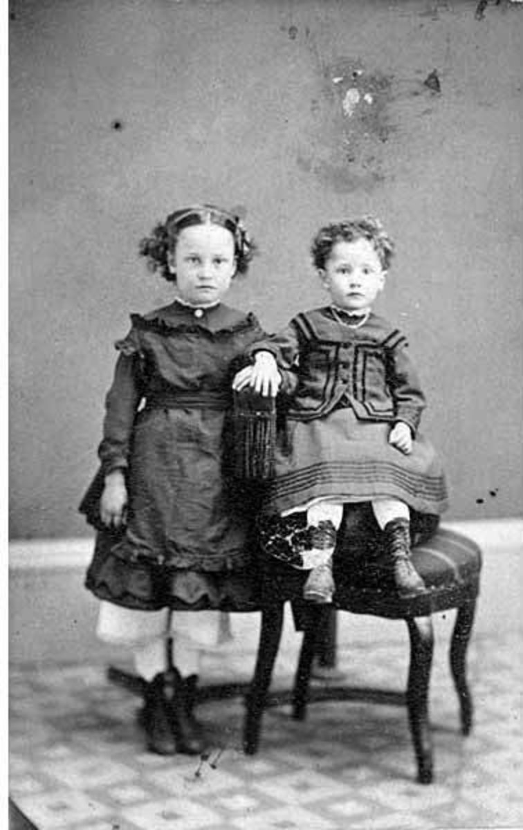 Caroline and Oliver McGilvra - Oliver is on the right