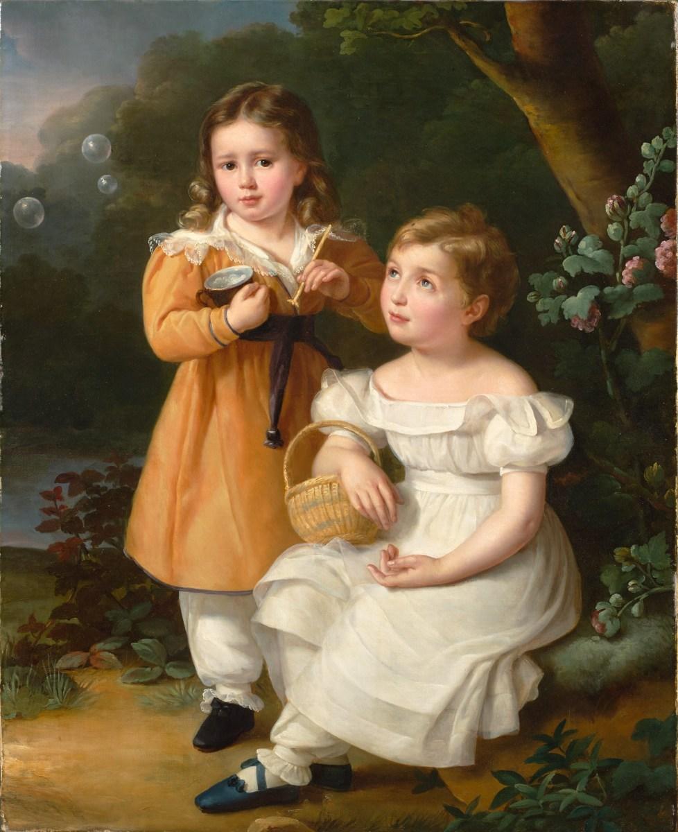 Painting of children circa 1827