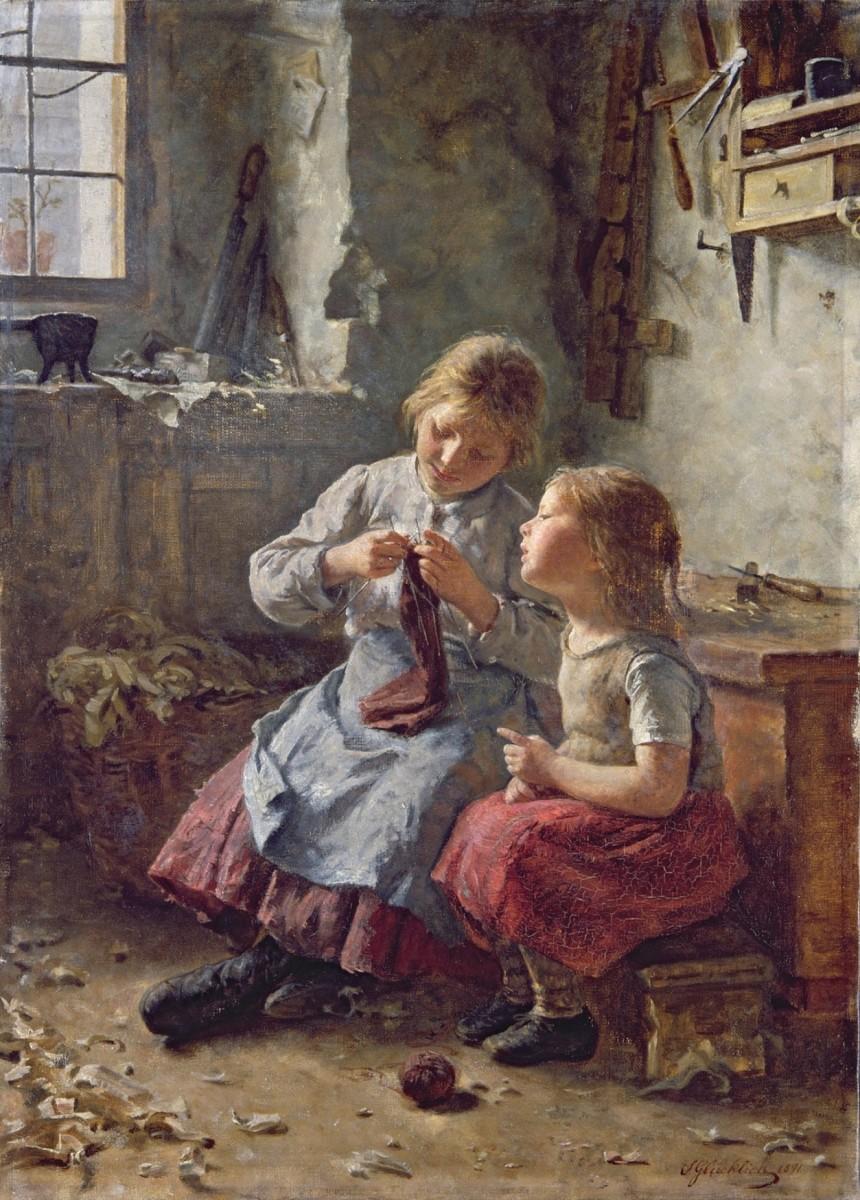 Poor children circa 1891