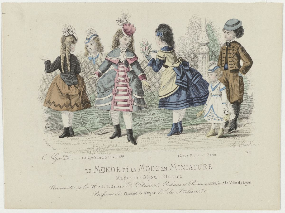 Children's fashion plate circa 1873