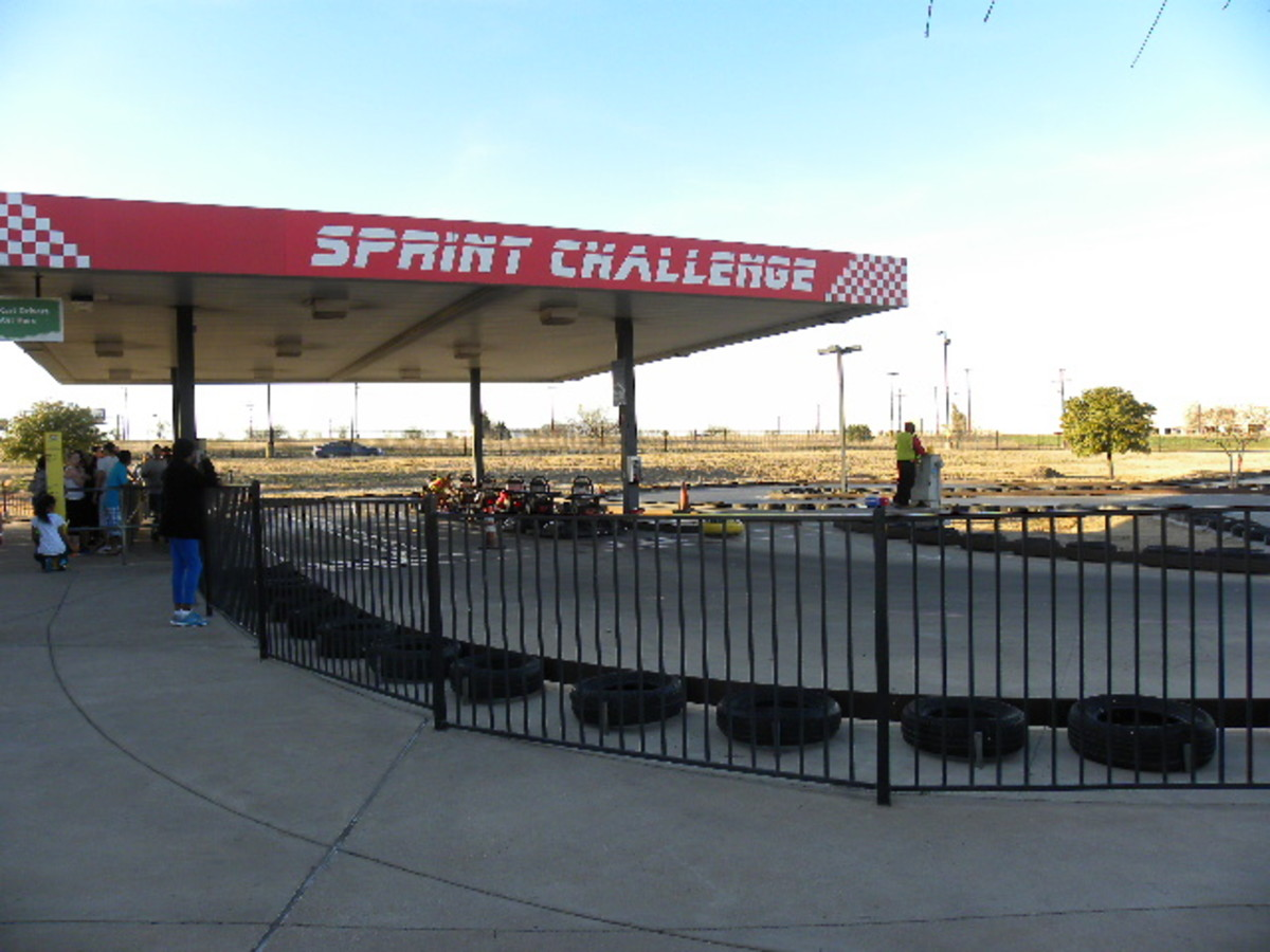 Go Karts Racing at Austin's Park and Pizza Pflugerville TX