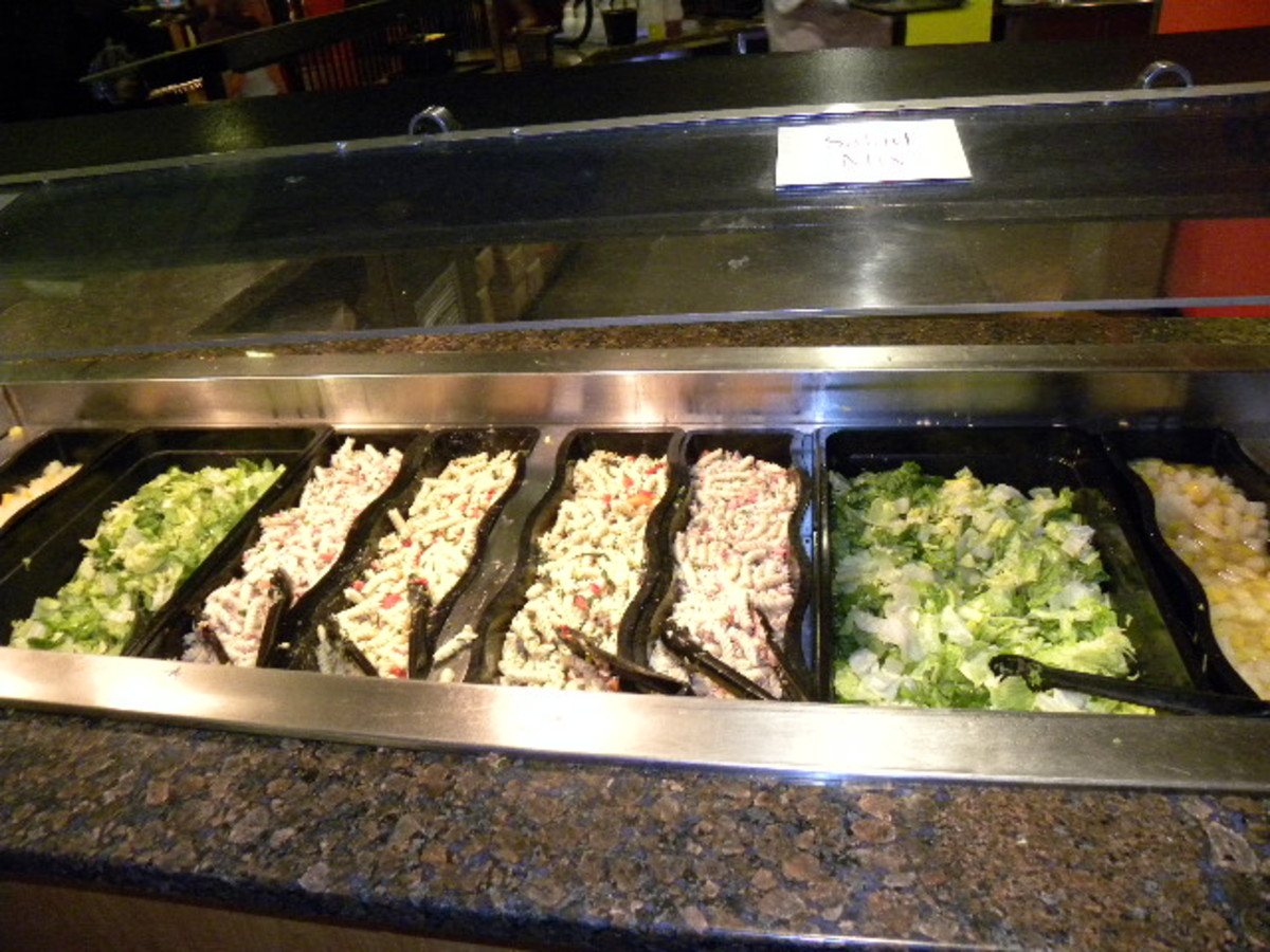 Great Salad Bar at Austin's Park and Pizza Pflugerville Tx