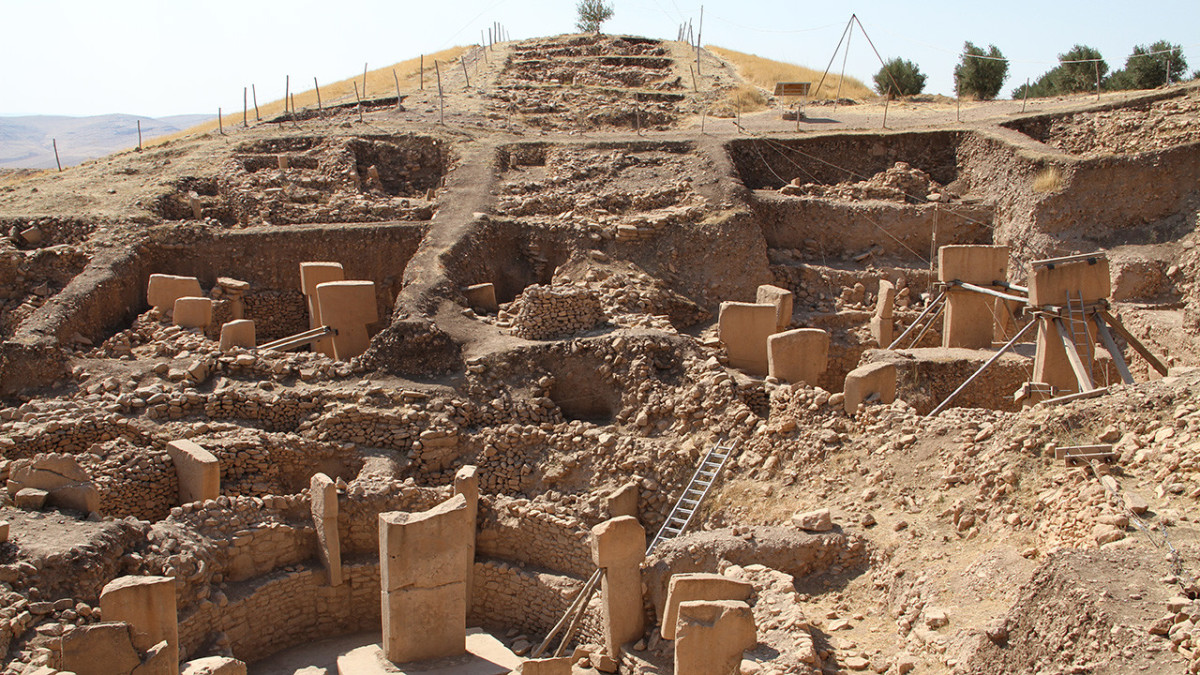 Current view of excavations at Göbekli Tepe