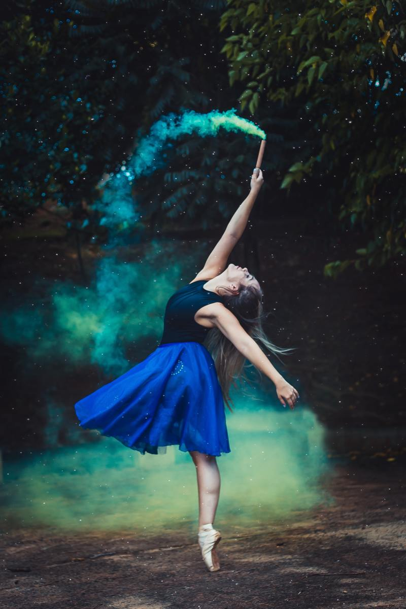 A young ballerina in performance.