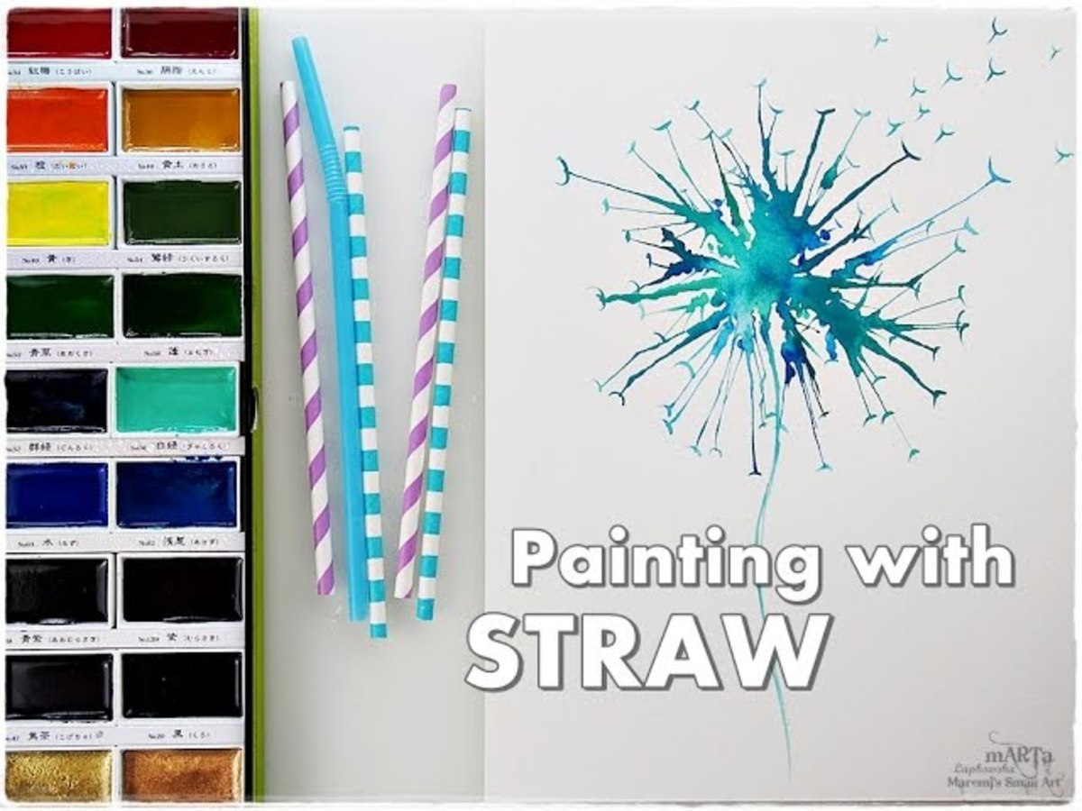 One of the many ways you can use drinking straws on your art journal pages