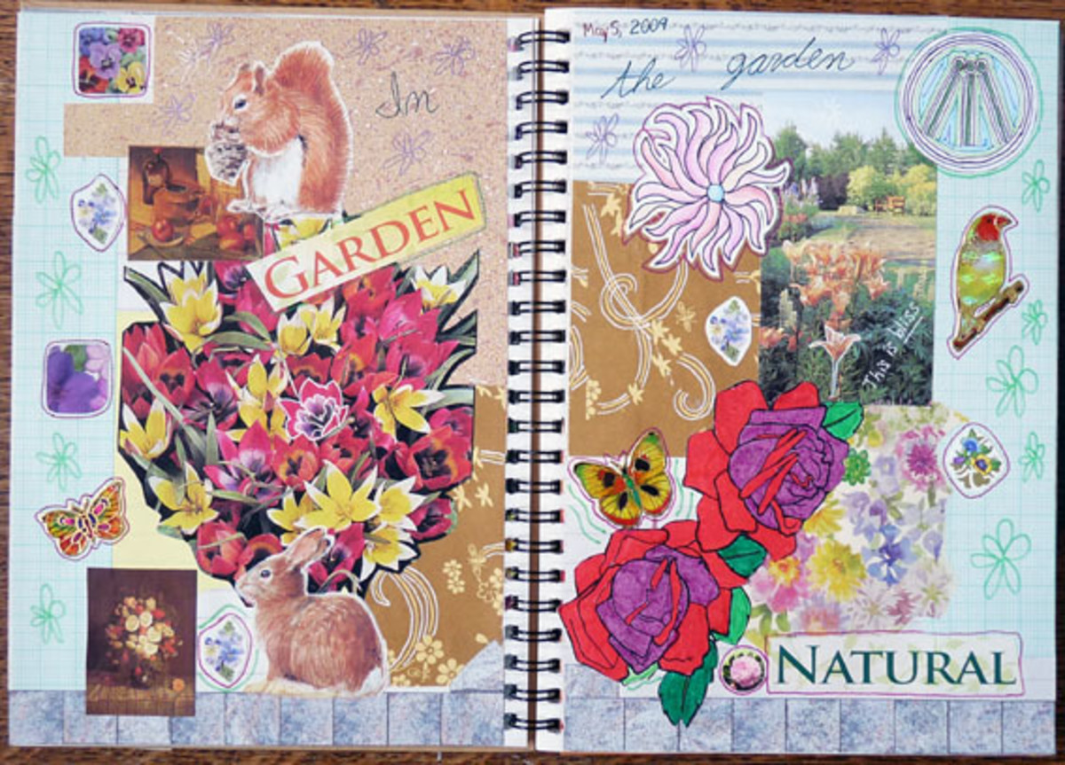 Restyling magazine pages in your journals is fun !
