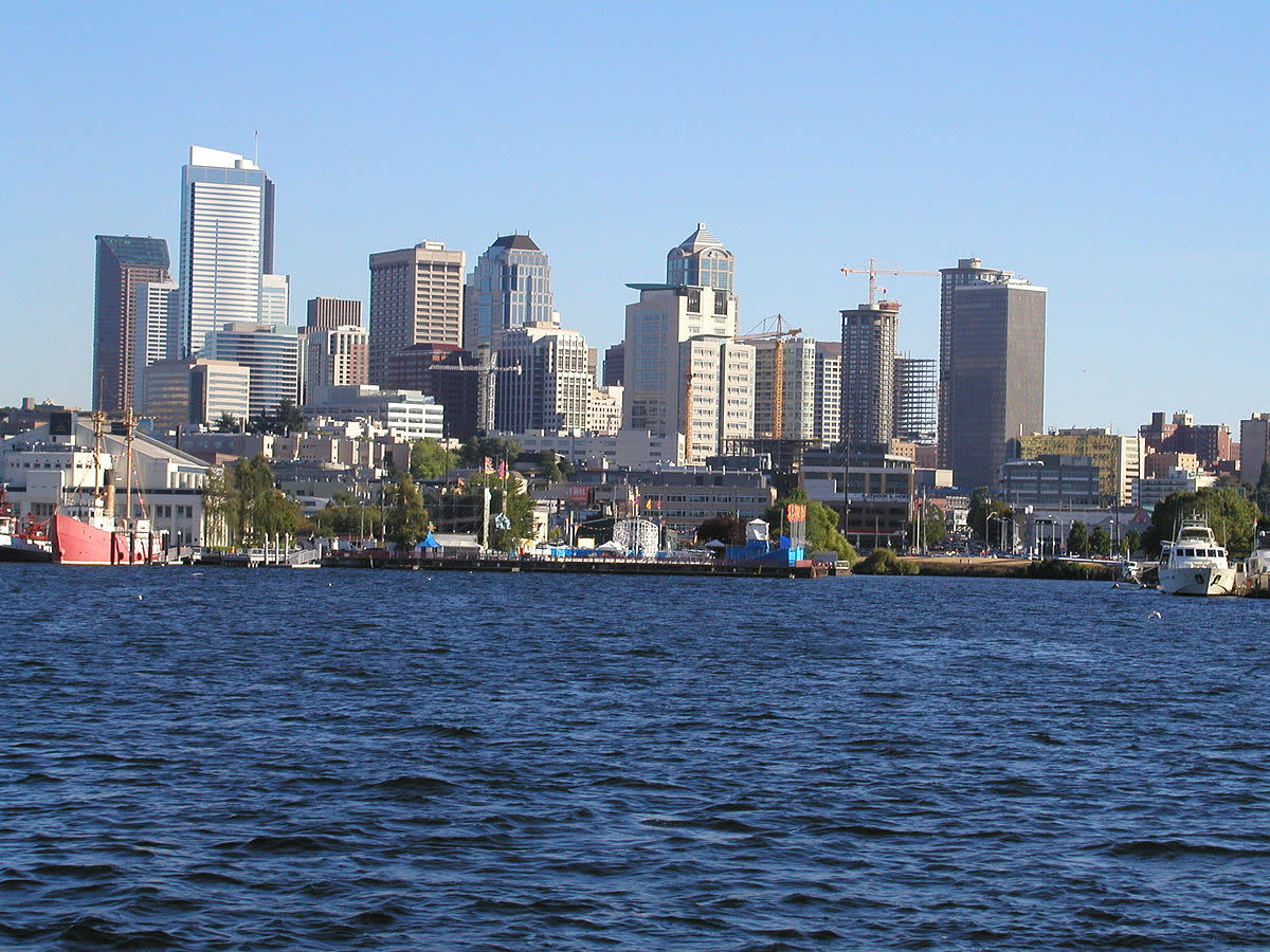 The Seattle Skyline as seen from Lake Union.