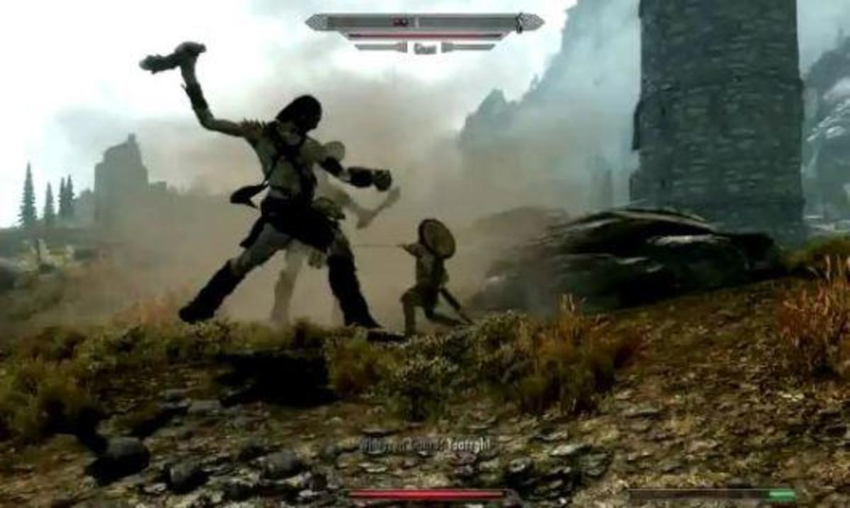Before bad Graphics when you first see a giant in skyrim the old fart scrolls v