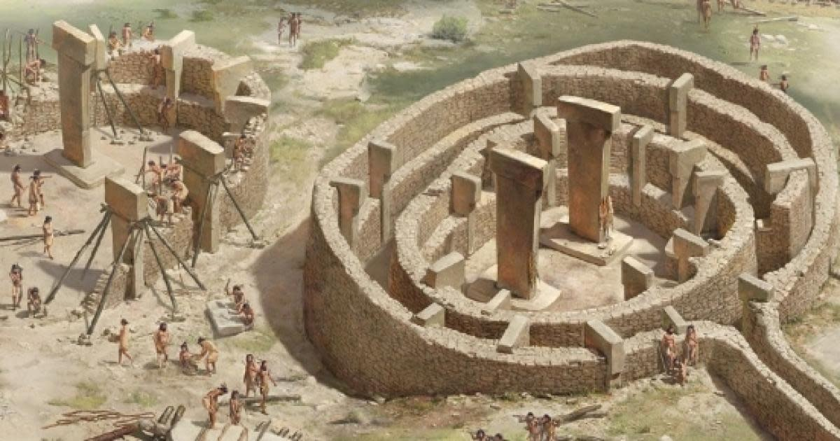 Artist's depiction of every day life at Göbekli Tepe