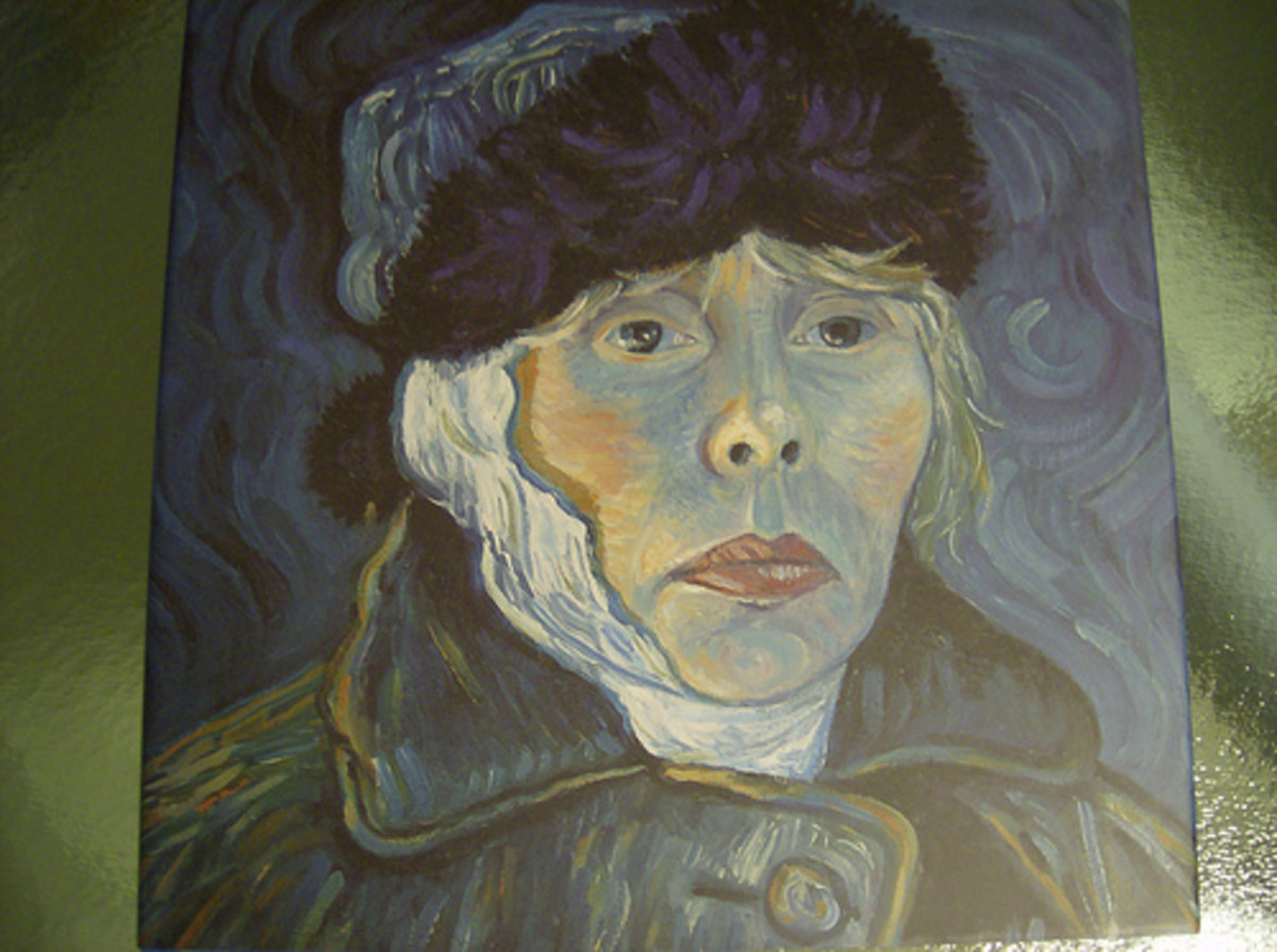 "Cover of the 2001 book ""Voices"". Joni's self-portrait is from the cover of her album ""Turbulent Indigo""."