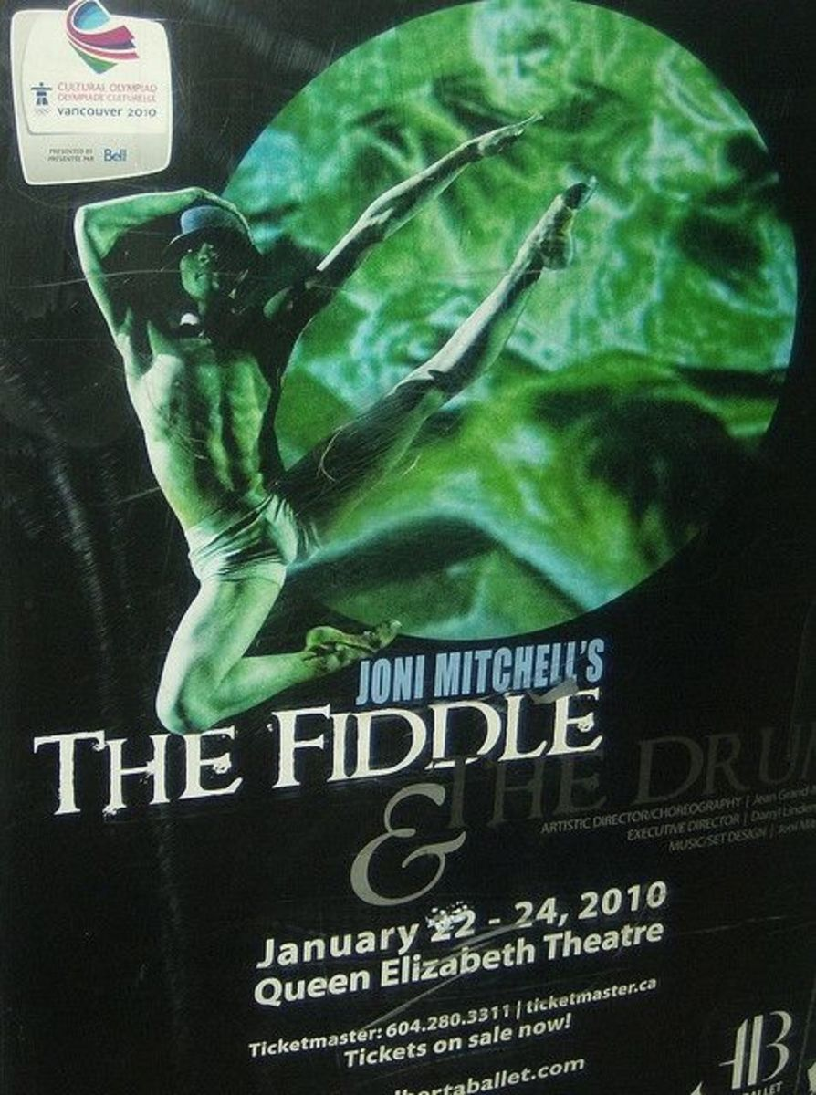 "Poster for Joni Mitchell's ""The Fiddle & The Drum"""