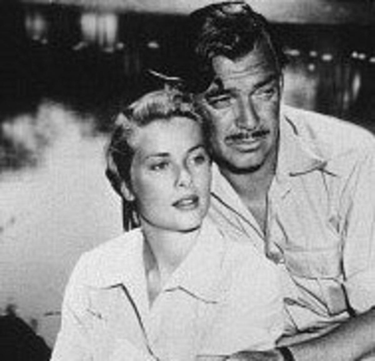 With Clark Gable in Mogambo