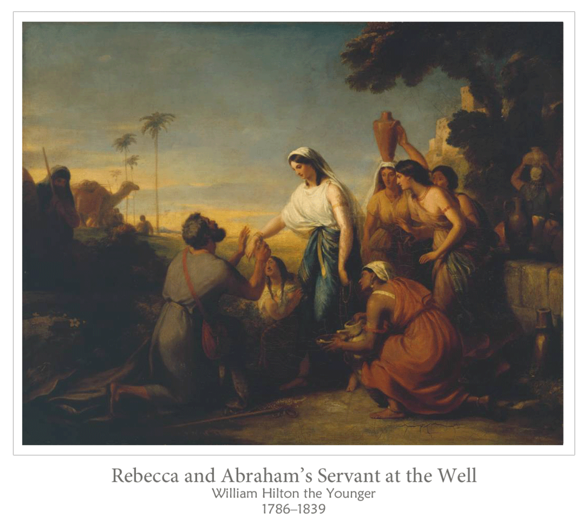 Rebekah and Abraham's servant at the well