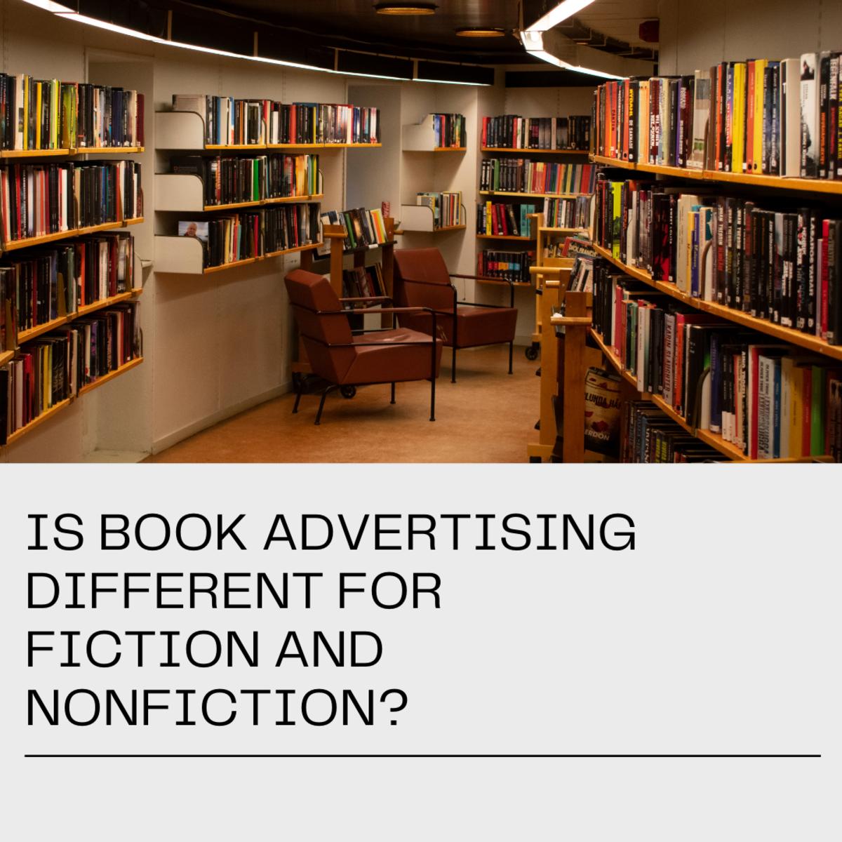 小说类书籍和非小说类书籍的广告是不同的……和一样的。