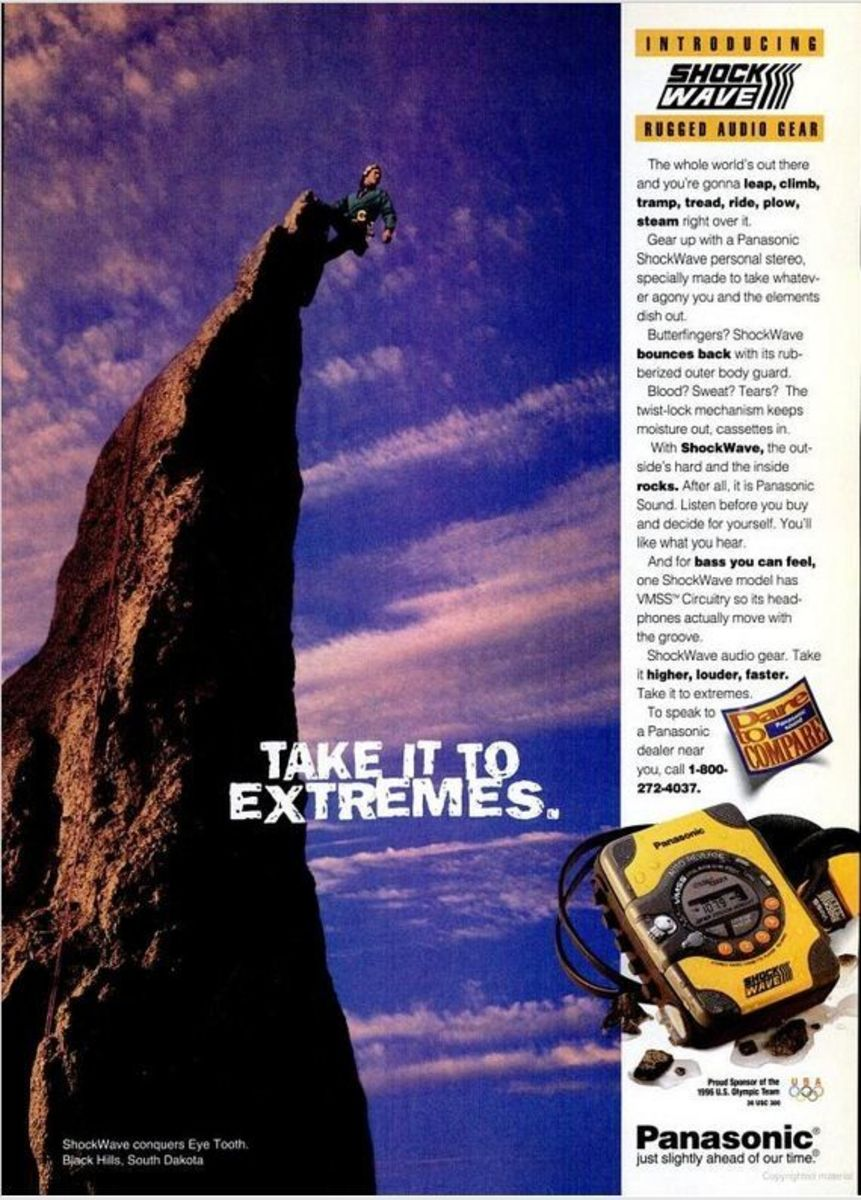 1995 Advertisement for the Panasonic ShockWave
