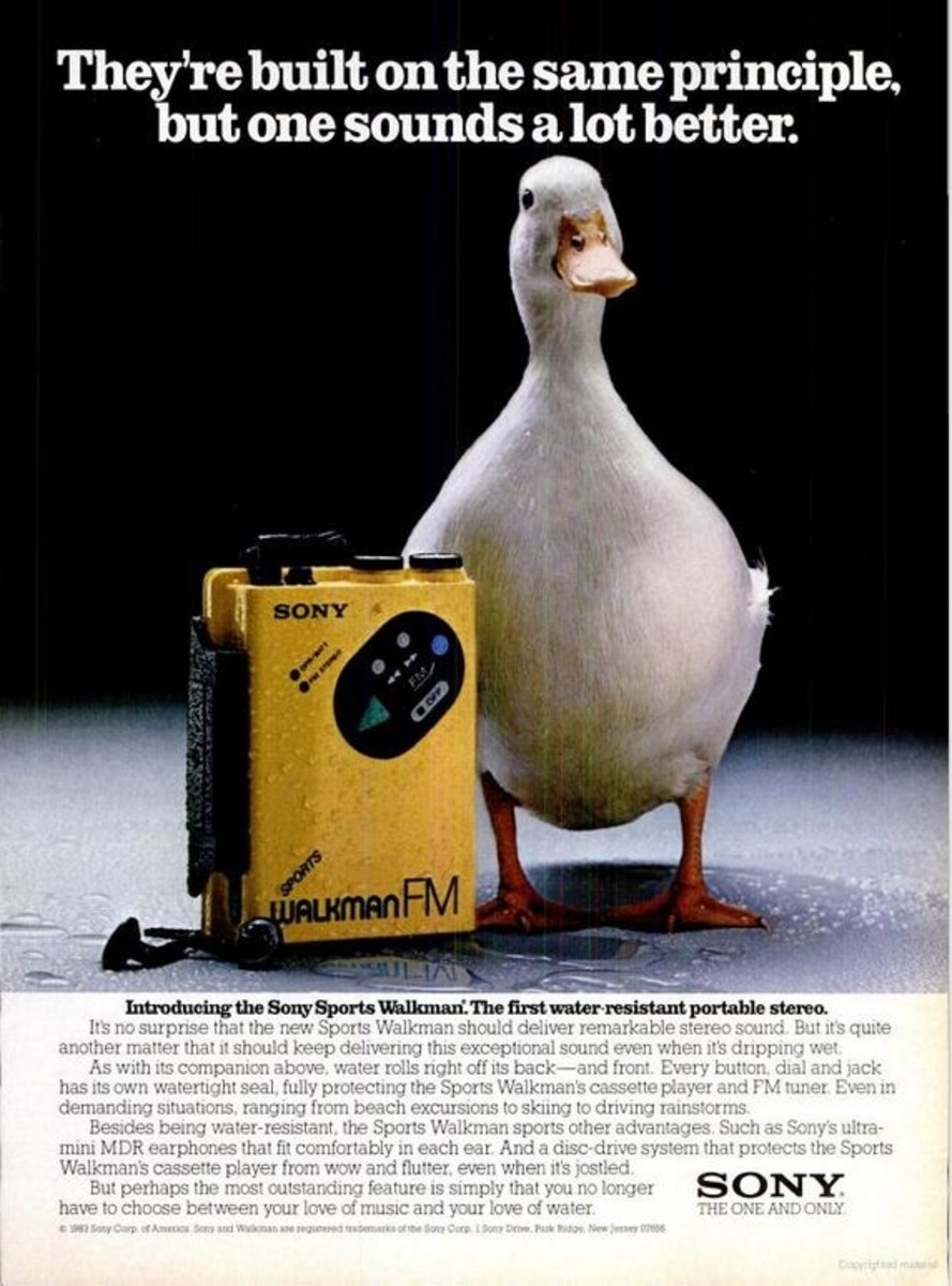 1984 Advertisement for the First Sony Sports Walkman