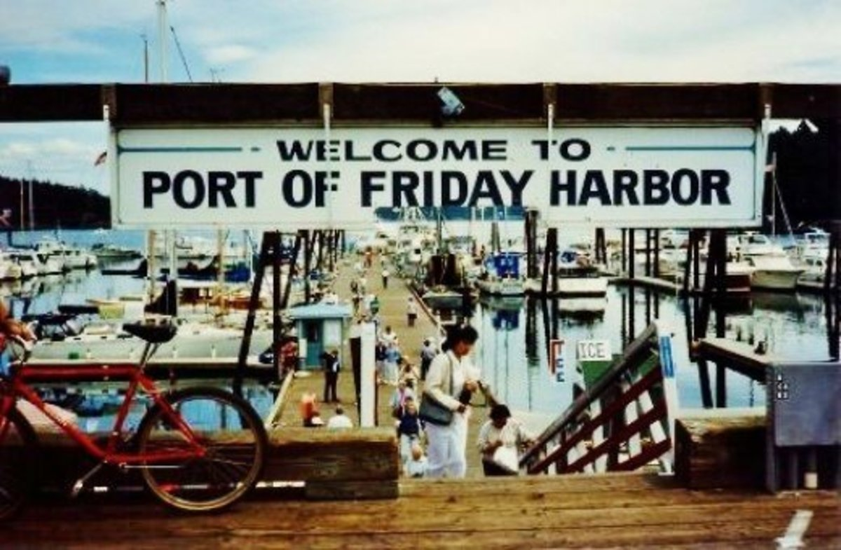 Port of Friday Harbor on the Island of San Juan