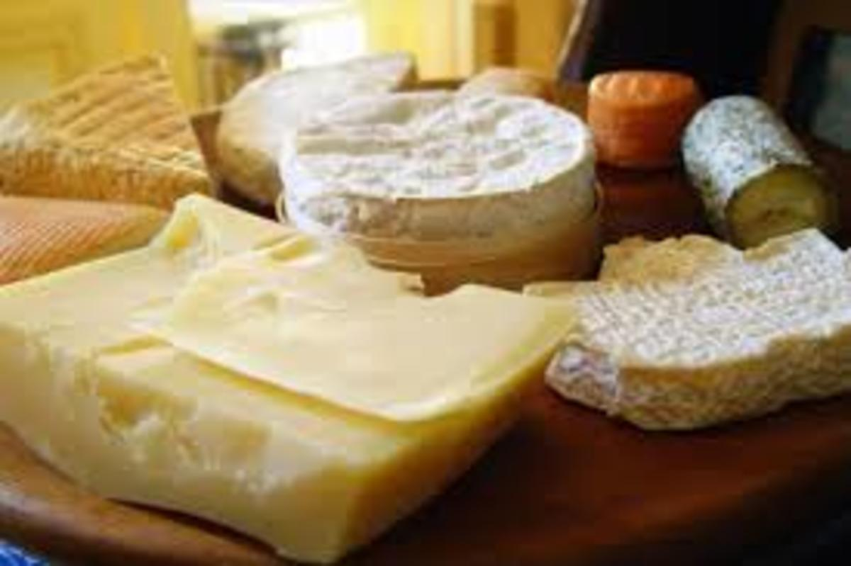 These are a few types of cheeses that are easily available at the shops.