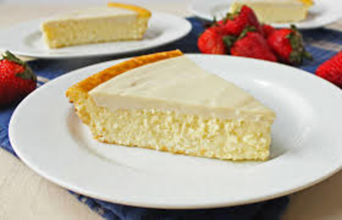 These days we can buy cheesecake in the supermarket at affordable prices ready to eat:   Look at these slices of cheesecake, they are yummy just by looking at them.