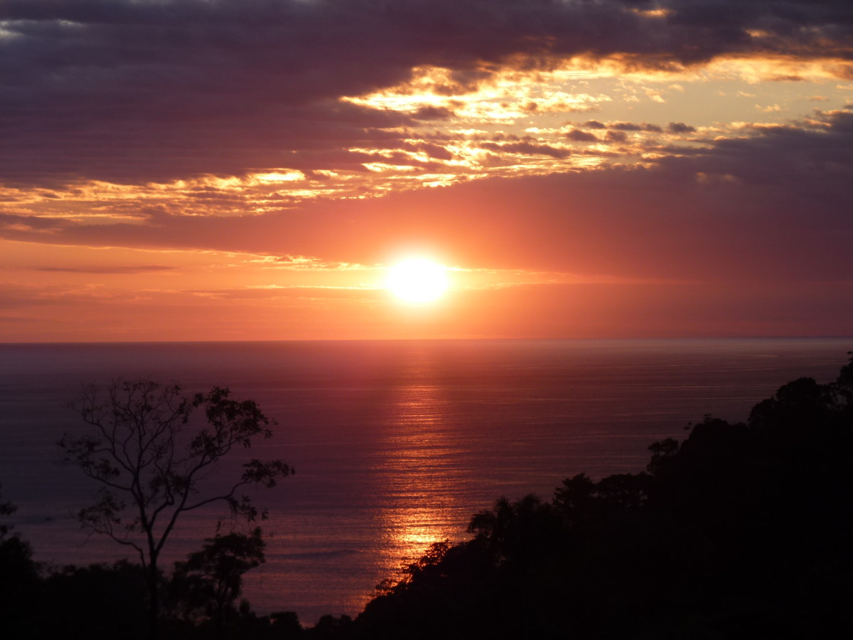 One Of The Most Beautiful Sun Sets Ever In Costa Rica