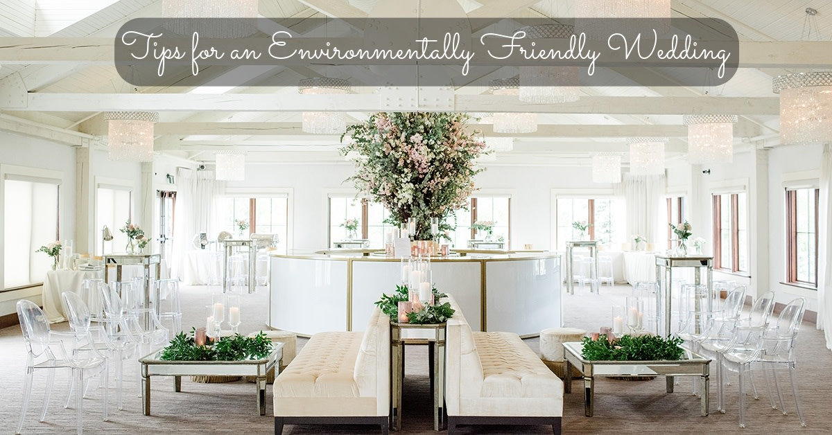 A wedding can still be grand and environmentally friendly. Consider what you're buying carefully and do research. You can always raise your standards.