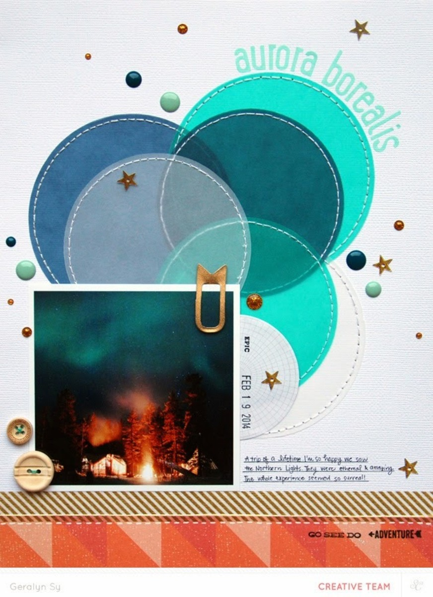 You can add so much color to your scrapbook page by layering colored vellum