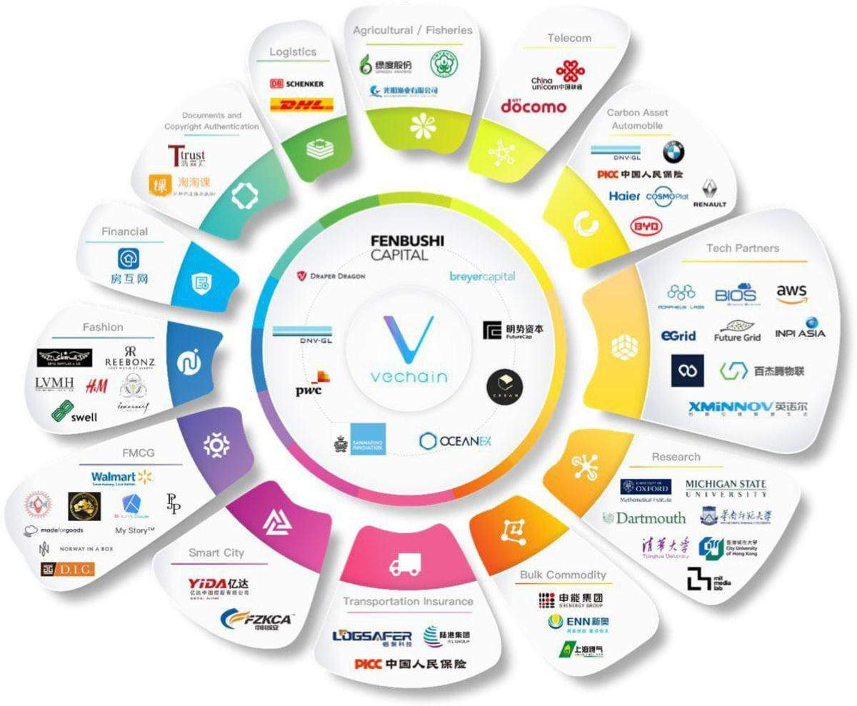 Pictured here are some of the brands that use VeChain technology
