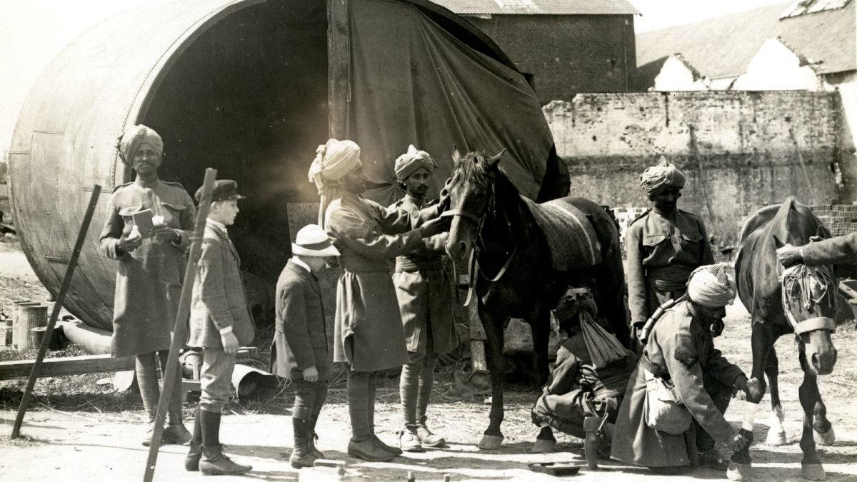 Indian Sepoys during WW I