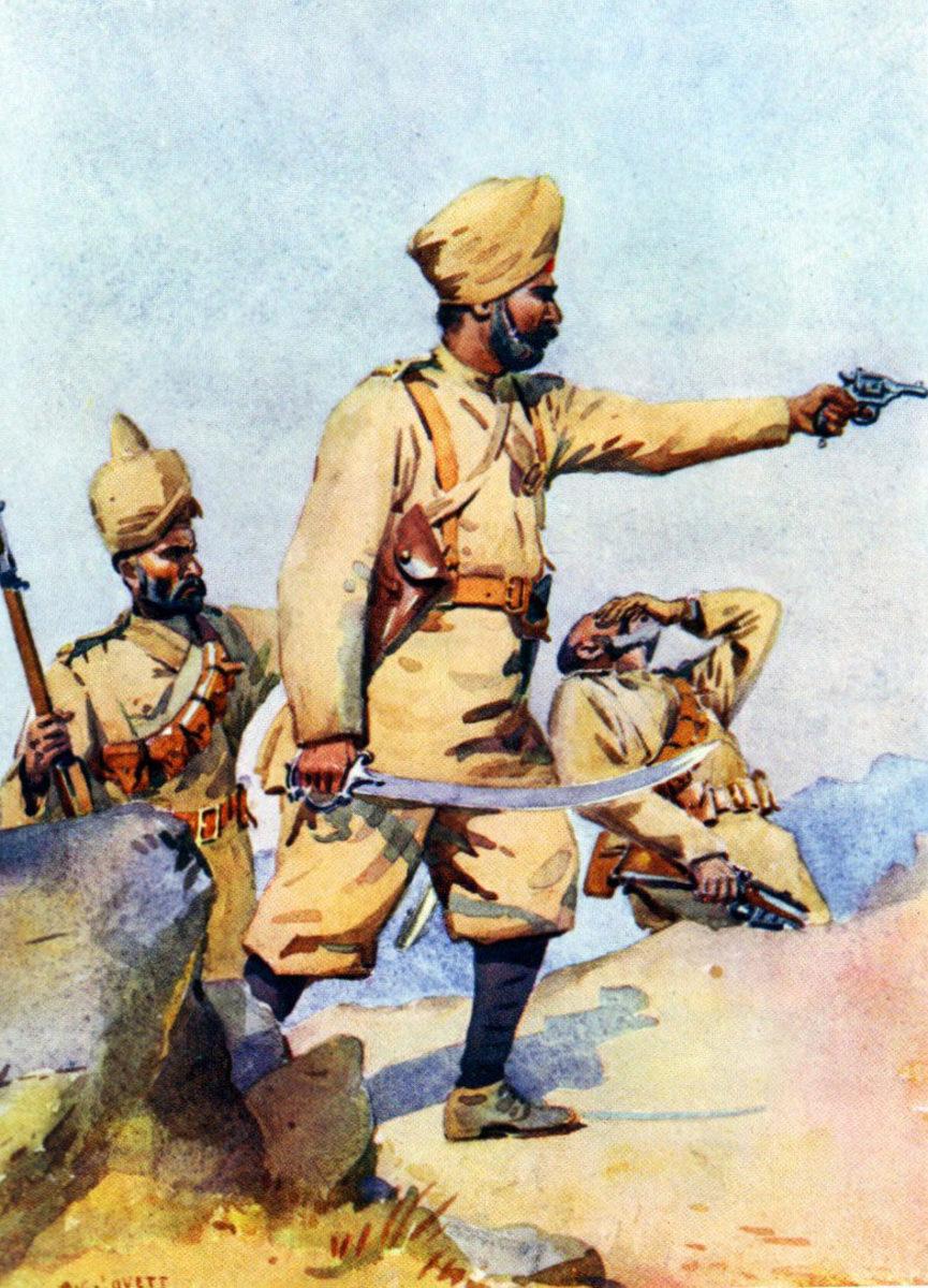 Troops of Punjabis at Malakand uprising 1897