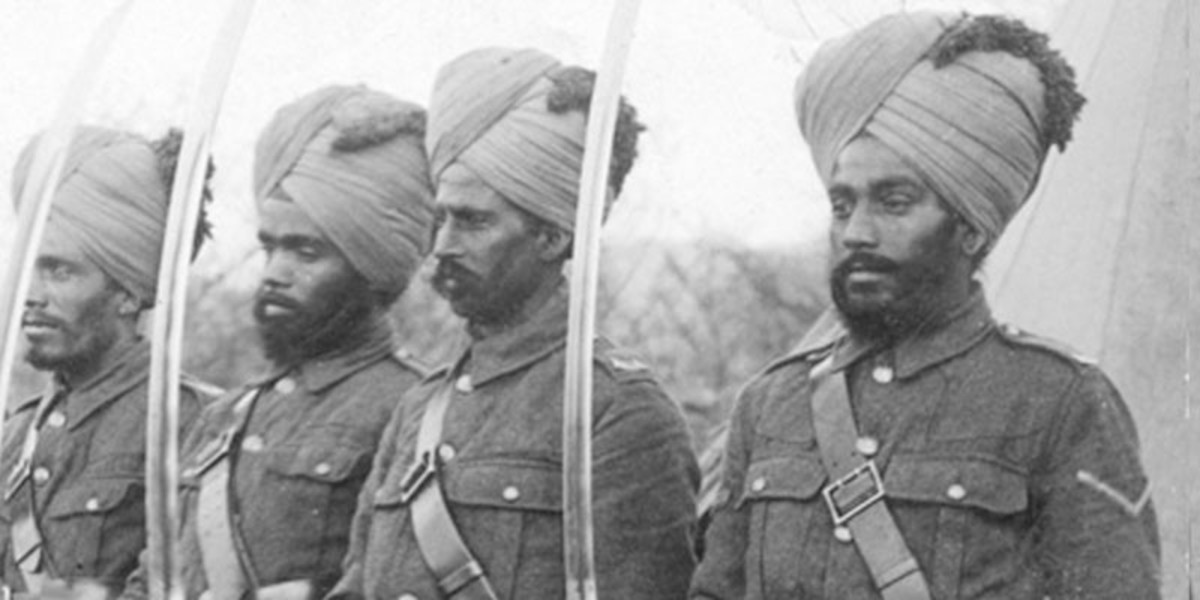 Sikh soldiers of the British Indian army