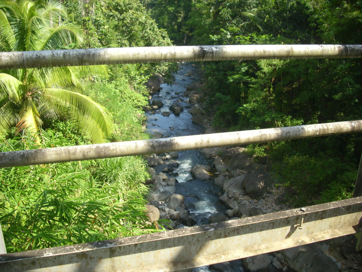 The view, taken from the Balanti-an Bridge.
